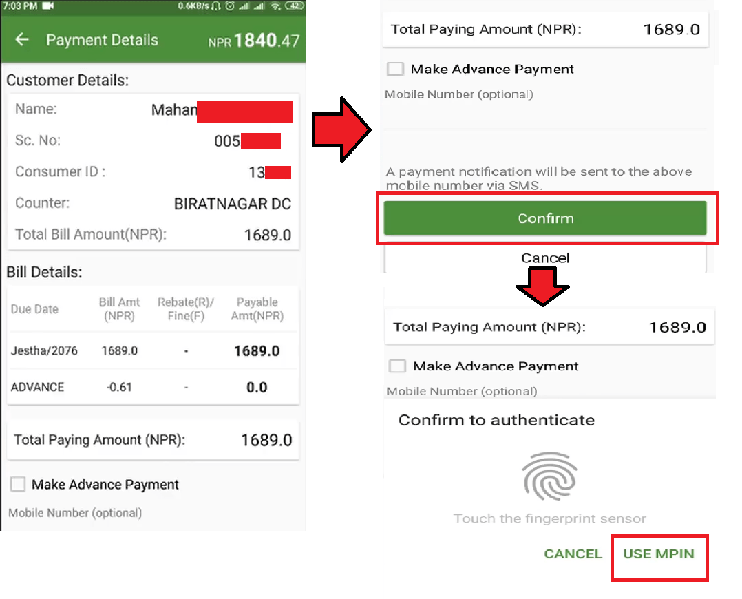 pay electricity bill from eSewa