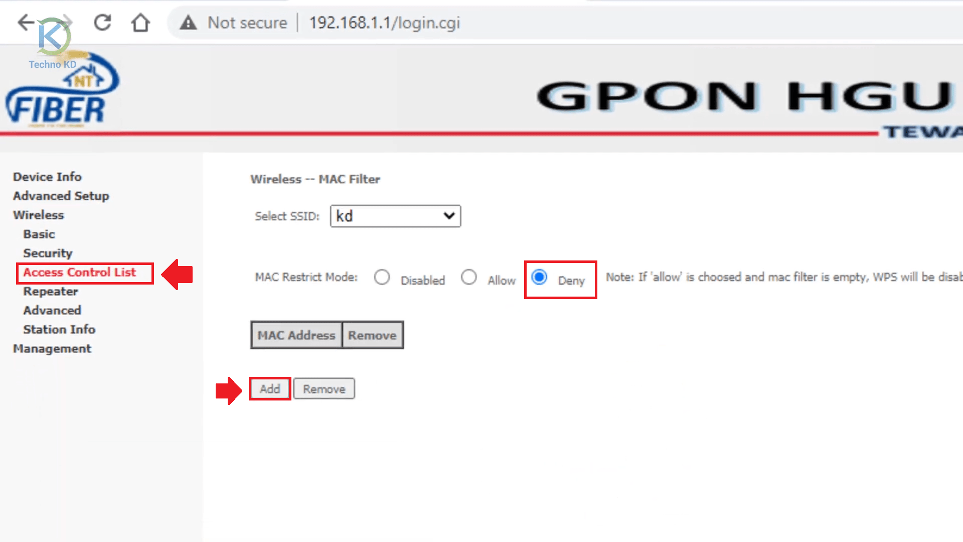 How To Block WiFi Users In NT Fiber Internet