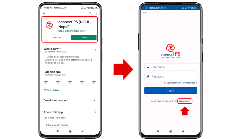 How to create connectIPS account and link to Bank Account