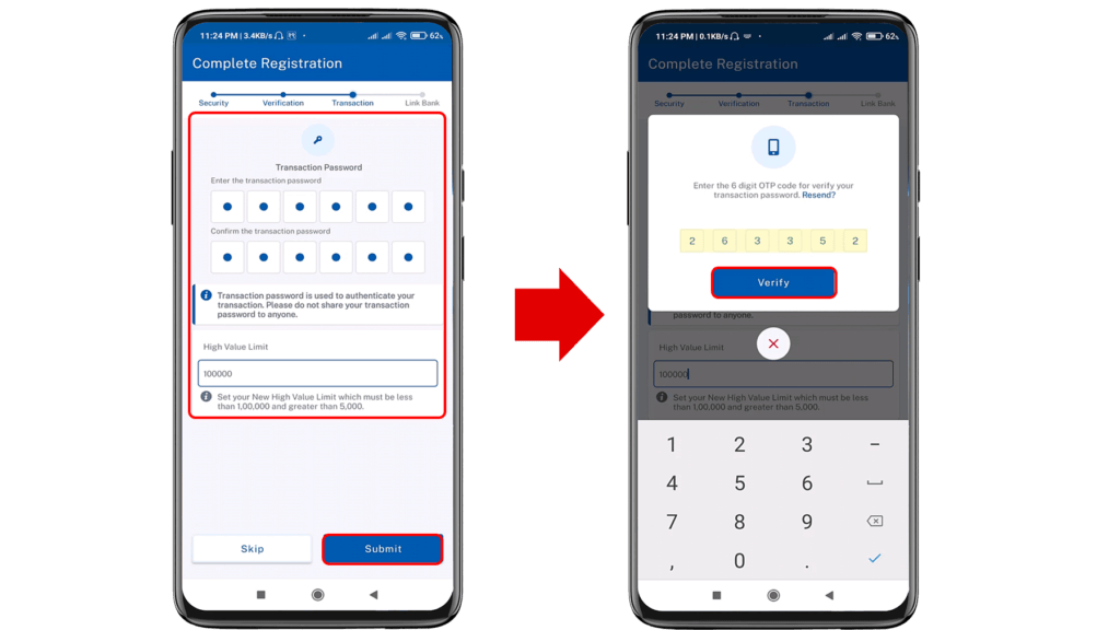 create connectIPS account and link to Bank Account