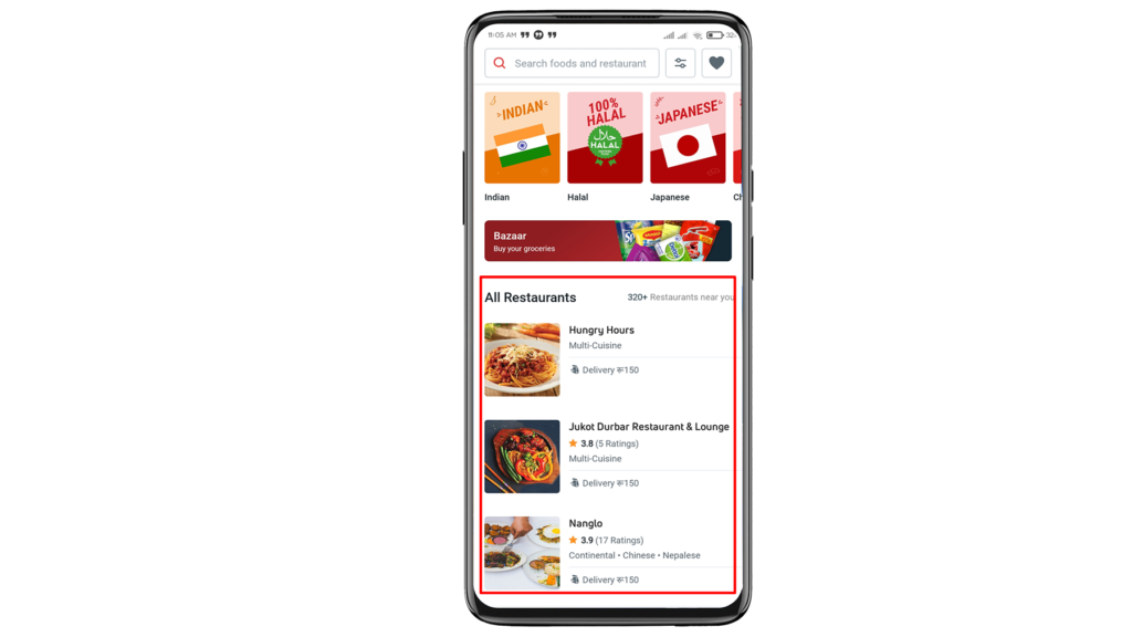 How to order food from Pathao