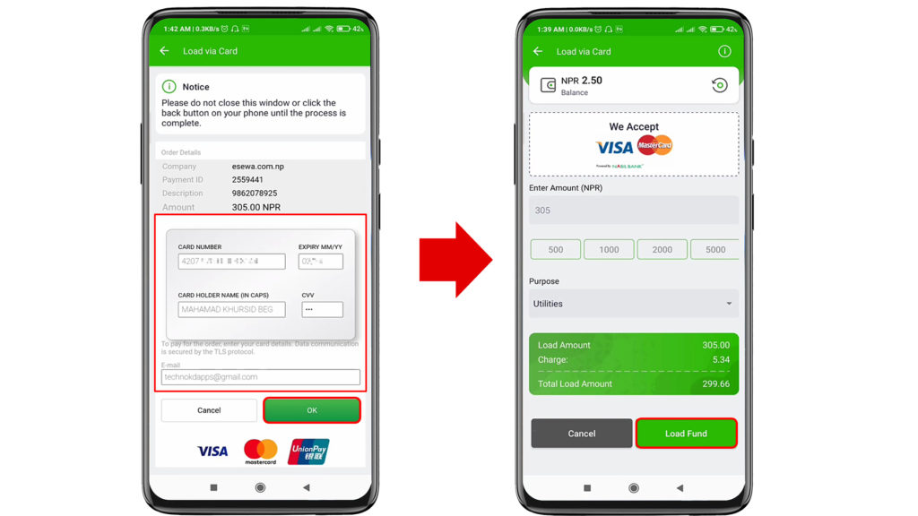 Transfer Money From IME Pay to eSewa