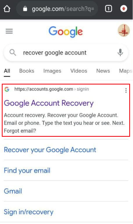 How to recover Google Account